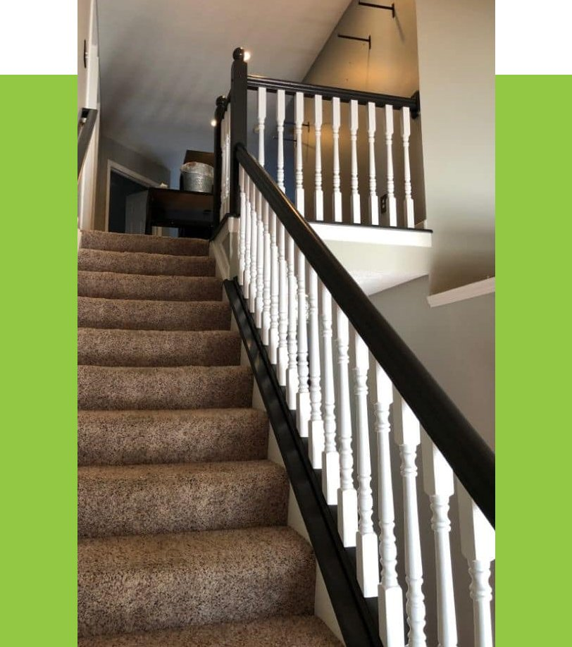Stairwell with Brown Banisters